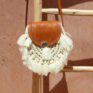 sac à main femme en raphia et cuir fait à la main marque flo and jouls flo&jouls