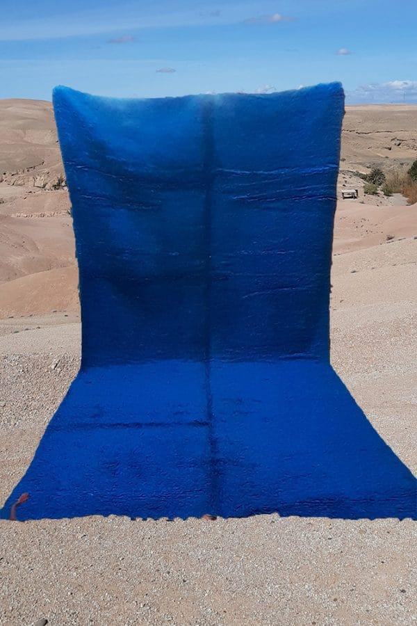 tapis berbere boujaad tisse a la main par les femmes au Maroc dans l'Atlas en pure laine tissé main piece unique